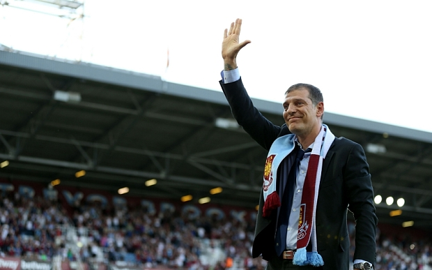 New West Ham United manger Slaven Bilic walks out to meet the fans before the UEFA Europa League first round qualifying match at Upton Park, London. PRESS ASSOCIATION Photo. Picture date: Thursday July 2, 2015. See PA story SOCCER West Ham. Photo credit should read: Steven Paston/PA Wire.